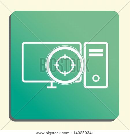 Pc Goal Icon In Vector Format. Premium Quality Pc Goal Symbol. Web Graphic Pc Goal Sign On Green Lig