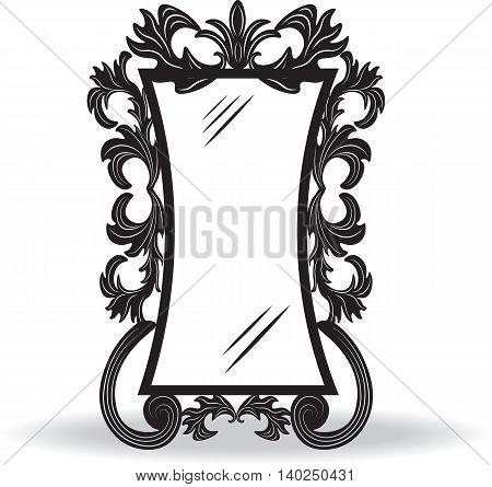 Vintage ornamented frame . Vector decorated frame