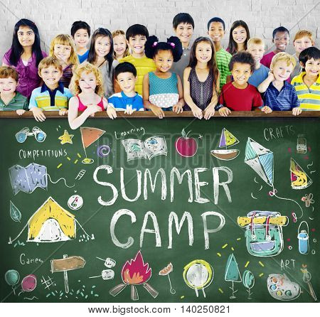 Summer Camp Adventure Exploration Enjoyment Concept
