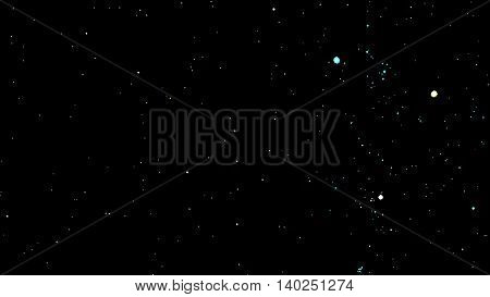 Vector image stars black Background with Milky Way