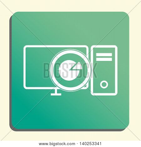 Pc Pie Graph Icon In Vector Format. Premium Quality Pc Pie Graph Symbol. Web Graphic Pc Pie Graph Si
