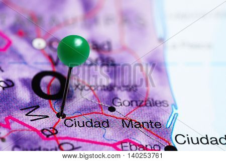 Ciudad Mante pinned on a map of Mexico