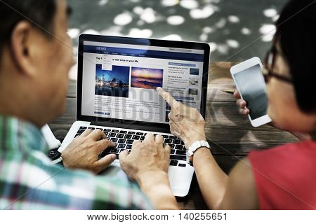 Webapge News Feed Internet Blog Laptop Concept