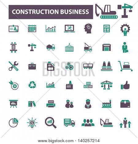 construction business icons