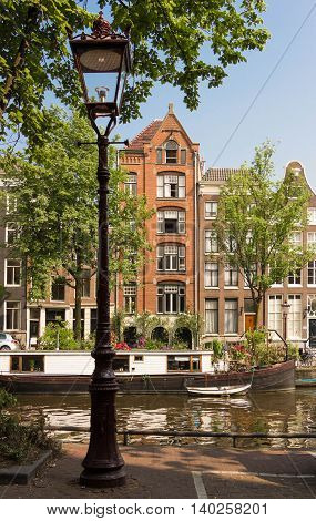 The Dutch houses in Amsterdam The Netherlands.
