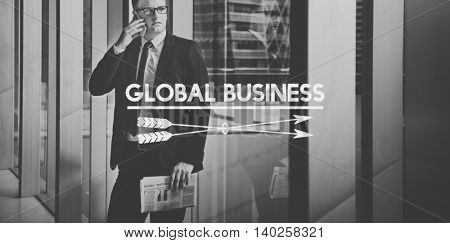 Global Business Communication Connection Organization Concept