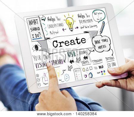 Create Design Ideas Imagination Invention Skill Concept