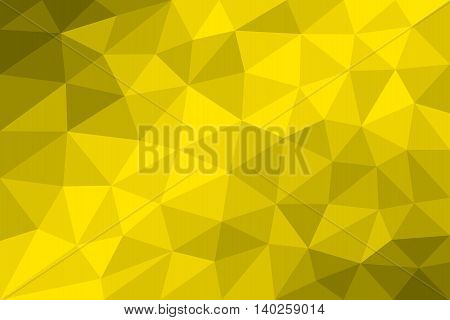 Low poly background yellow formed with triangles of different size. Variation of gradated Yellow fields. Illustration.