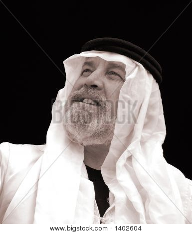 The Sheik - A Black And White Portrait