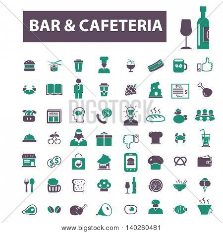 bar and cafe, pub icons