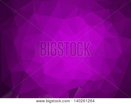 Purple violet bright triangle polygon background frame. Abstract Geometrical Backdrop. Geometric design for business presentations, web template banner flyer. Illustration pattern. Glamour. Magenta.