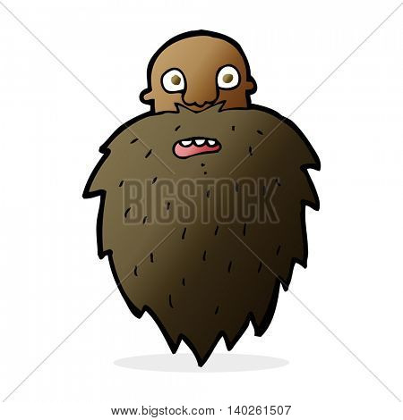 cartoon bearded man