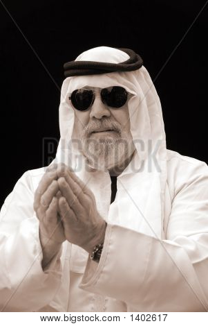 The Sheik Gives His Blessing - A Portrait