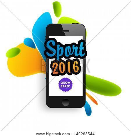 Summer sport 2016, Design for brochure, website, book or flyers. Mobile phone