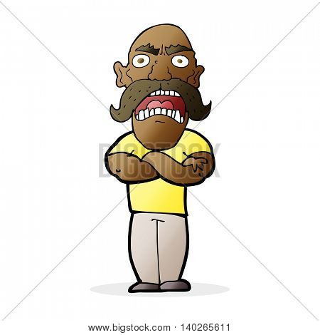 cartoon angry man
