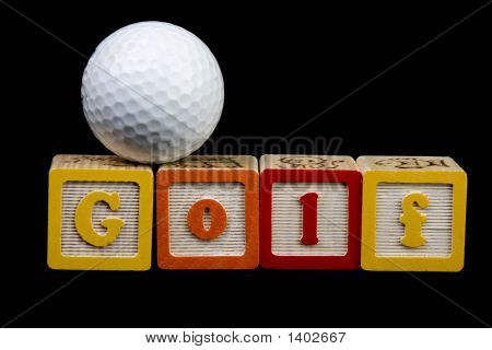 Golf Ball And Spelled Out