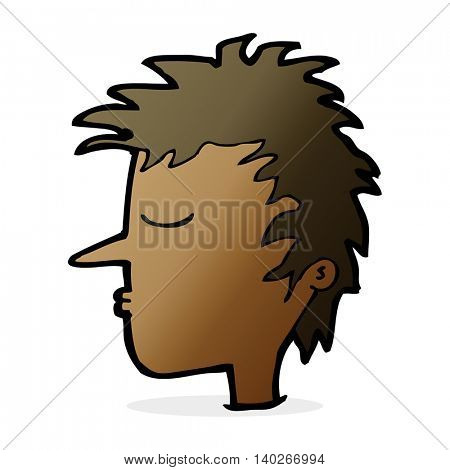 cartoon male face