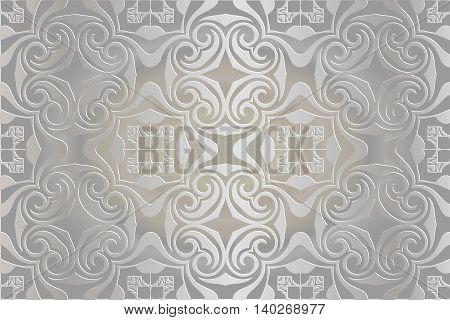 White lace floral pattern Stylish design with elegant lines and curls