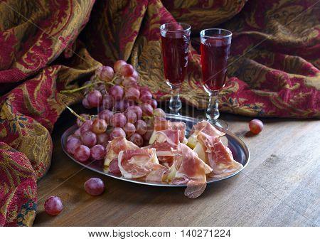 Spanish Jamon With Melon
