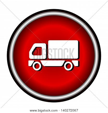 Truck Icon Vector Illustration on white background