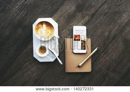 Coffee Break Mobile Planner Concept