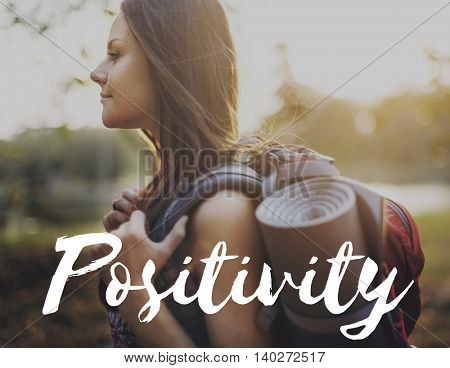 Positivity Attitude Choice Inspire Mindset Focus Concept