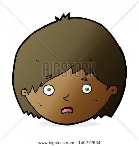 cartoon unhappy boy
