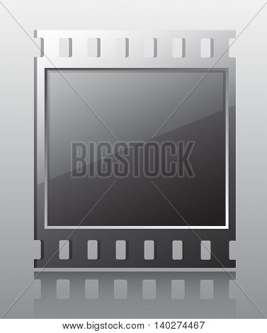 film button. Vector illustration of buttons for multimedia