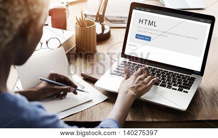 HTML Website Internet Design Content Concept