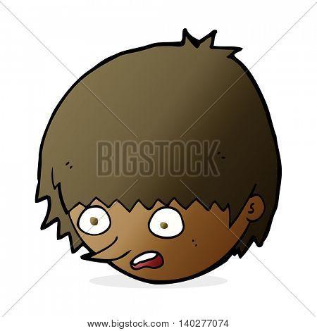 cartoon stressed face