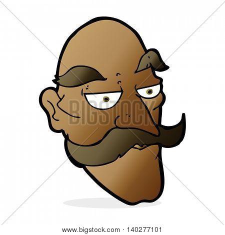 cartoon old man face