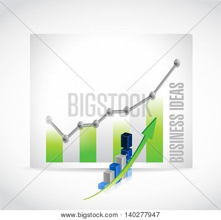 business ideas chart sign concept illustration design graphic
