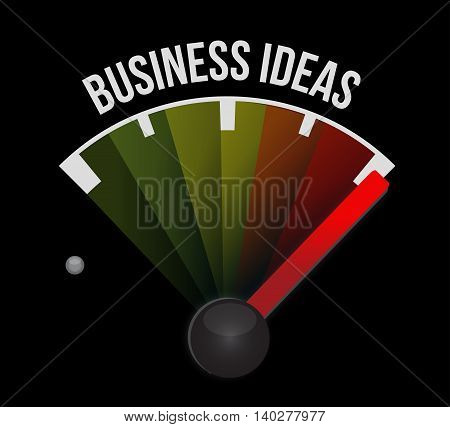 business ideas meter sign concept illustration design graphic