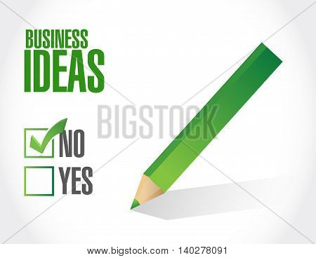 no business ideas approval sign concept illustration design graphic