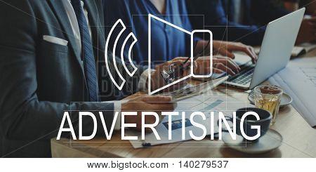 Business Digital Marketing Speakers Symbol Concept