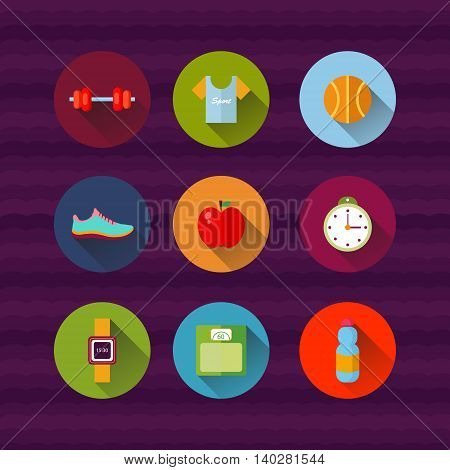 fitness sport and health illustration EPS 10
