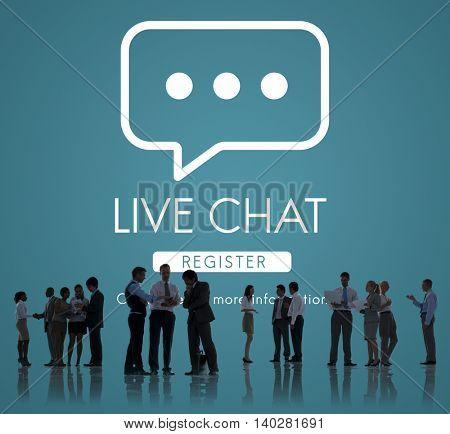 Live Chat Online Conversation Message Concept