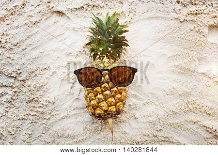 Summer Pineapple Sunglasses Beach Concept