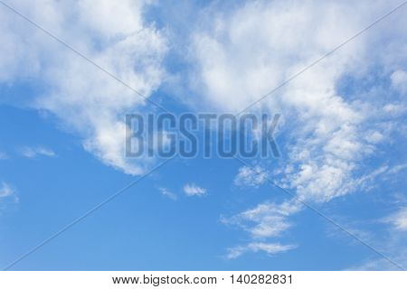 blue sky and cloud beautiful Colorful in nature for background