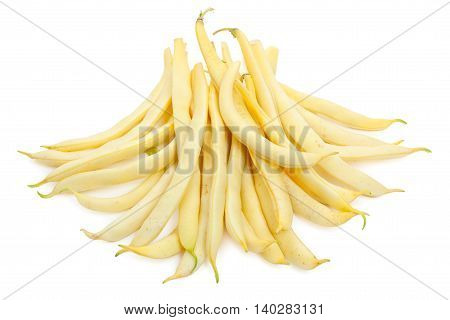 Green Beans (french Bean) Isolated On White
