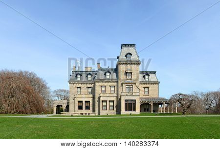 Chateau-Sur-Mer is a historic house with Chateau style at Newport Historic District in Newport, Rhode Island, USA. This house, built in 1852, was home to three generations of the Wetmore family.