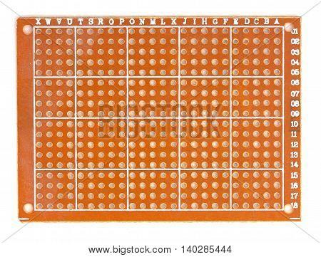 DIY Prototype PCB Universal Circuit Board Top View