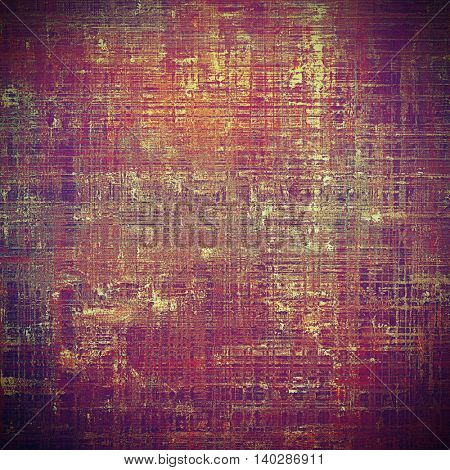 Vintage background with dirty grungy texture or overlay and different color patterns: yellow (beige); brown; red (orange); purple (violet); pink