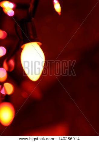 Halloween decoration bokeh lights background