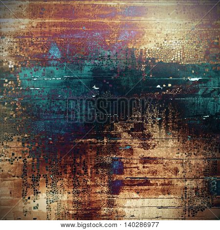 Grunge retro composition, textured vintage background. With different color patterns: yellow (beige); brown; black; blue; red (orange); purple (violet)