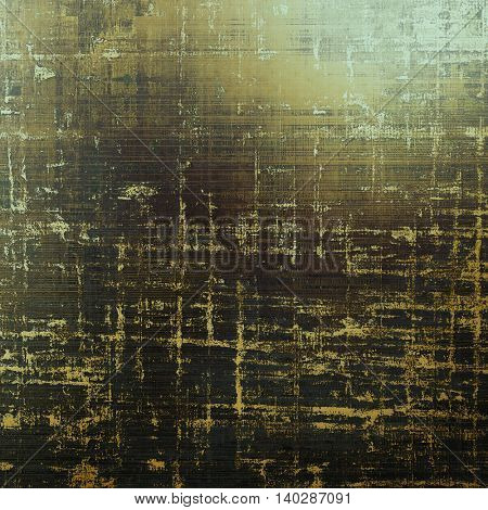 Damaged retro texture with grunge style elements and different color patterns: yellow (beige); brown; gray; black; green; cyan