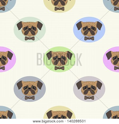 Vector Illustration Drawn By Pug