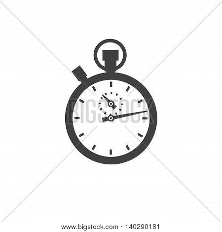 Stopwatch icon vector classic isolated on white