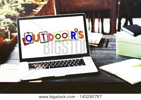 Outdoors Lifestyle Recreation Word Concept