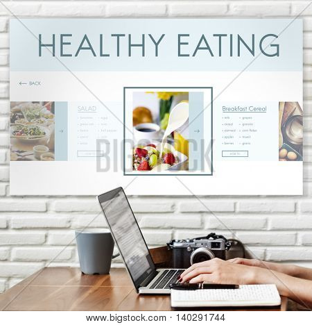Healthy Foods Wellbeing Lifestyle Nutrition Concept